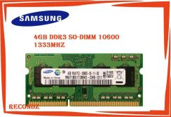 Ddr3 so-dimm 4gb ram pc3 10600s 1333mhz