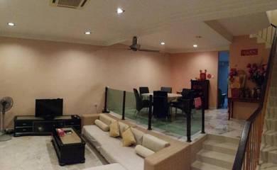 Kepong Laman Rimbunan 3 sty 22x75 gd cond below market furnish reno