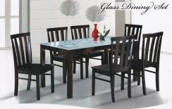 Glass Table Dining Set 1+6