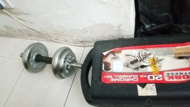 Dumbell set chrome 20kg.