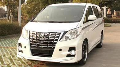 Toyota alphard 20 to 30 bumper bodykit grille 1