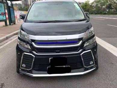 Toyota vellfire 20 to 30 bodykit bumper grille 1