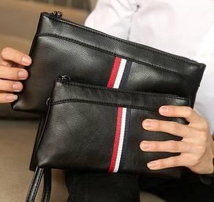 042 NEW Big Clutch Bag Hand Black Men Long Wallet