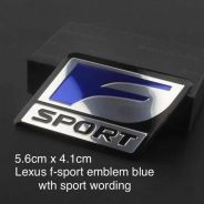 Lexus F-sport SS Blue Wording Emblem 5.6x4.1cm AG