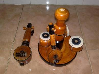 Alat muzik kayu deco wooden decor music instrument