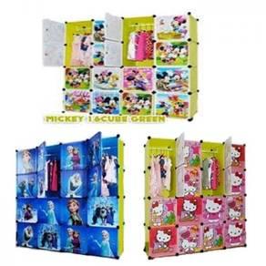 16 cubes cartoon wardrobe