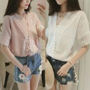 Lace casual tops
