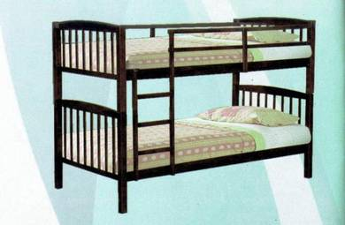 Solid Wood Double Decker Single Bed