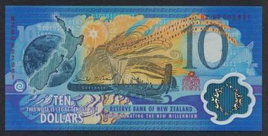 (BN 0006) 2000 N.Zealand 10 Dollars Polymer - UNC