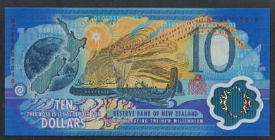 (BN 0066) 2000 N.Zealand 10 Dollars Polymer - UNC