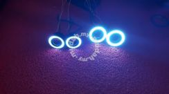Universal 3inch led fog lamp with ring ice blue