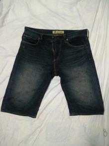 Selvedge Back Number short pants