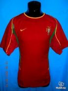 Portugal 2002-2004 dual layer home jersey M