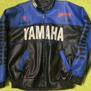 Jaket kulit original yamaha