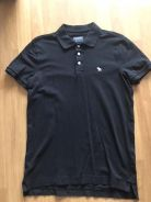 ABERCROMBIE & FITCH stretch polo Black size S