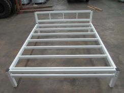 Queen Size Bed Frame White Coated