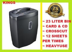 6 HEAVY DUTY paper shredder -CROSS cut (CD) -50YR