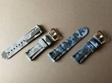 24mm Grey&Blue CAMO Watch Strap OFFICINEPANERAI