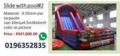 Inflatable pool with slide no 2