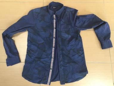 Fred perry camo long sleeve shirt original