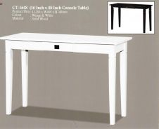 WHITE Console Table 4FT