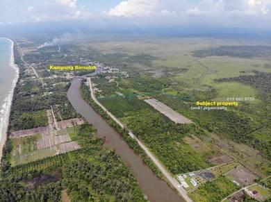 NT70acs. Flat Agriculture Land with River. Kuala penyu