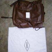 Fossil leather bagpack