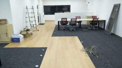 Promosi,carpet dan vinyl flooring siap pasang hany