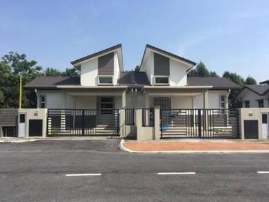FULL Loan Semi-D BARU 40x75 Tepi PADANG Jln Kebun Shah Alam Kg Lombong