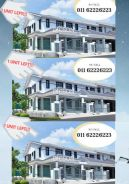 Double storey-completed project-bumi lot-one unit left
