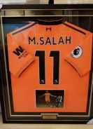 Liverpool Mohamed Salah Match Worn Jersey