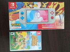Nintendo Switch Lite with Animal Crossing Game