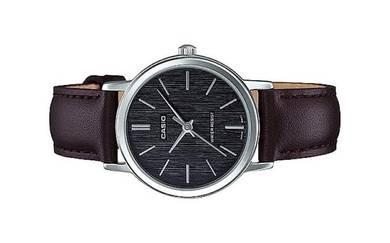 Casio Ladies Analog Leather Watch LTP-E145L-1ADF