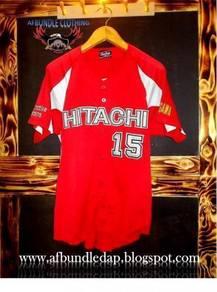 Hitachi player spec japan baseball jersey