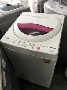 6.5kg Basuh Toshiba Pink Mesin Washing Machine Top