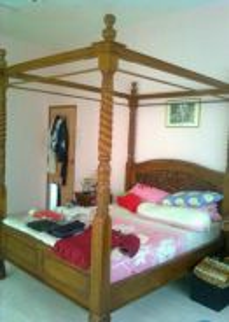 Solid Teak Wood Bed Frame