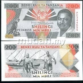 Tanzania 200 shillings 1993 p 25 unc