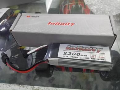 Infinity 11.1v 2200mah 45c 3s Rc Lipo Battery