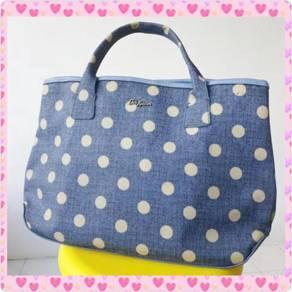 Cath Kidston Blue Spot Tote Hand Shoulder Bag