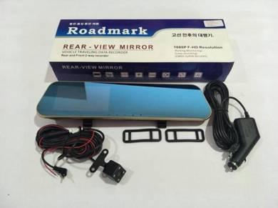Roadmark Rearview Mirror 4.3 1080p DVR+LED Cam+8GB
