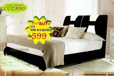 Queen size divan bed frame (M-KSH-102)20/06