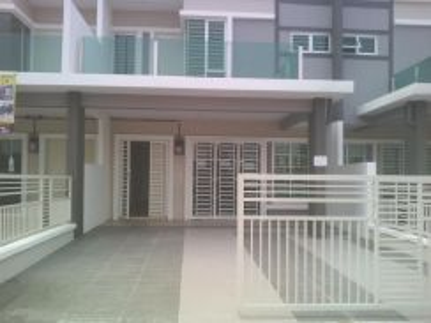 Double storey super link house 22'x80' Nusari Aman 2D