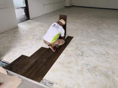 Vinyl Floor Lantai Timber Laminate PVC Floor Q233