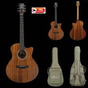 Groovy Acoustic Guitar with Enhanced Gigbag