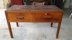 Wooden Table with Drawers