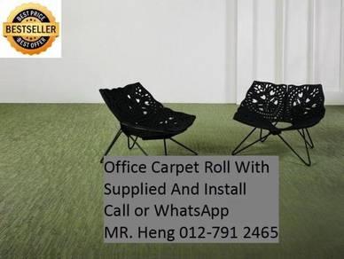 Classic Plain Design Carpet Roll with Install ui87