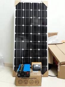 100W Solar Power Untuk Kebun (Light / Kipas /TV)