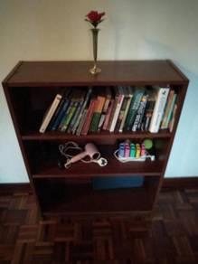 Dark laminate wood book shelf