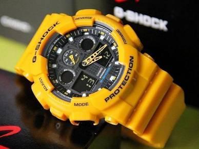 Watch- Casio G SHOCK GA100-9A YELLOW -ORIGINAL