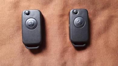 Mercedes 1button flip key housing new w202 r129